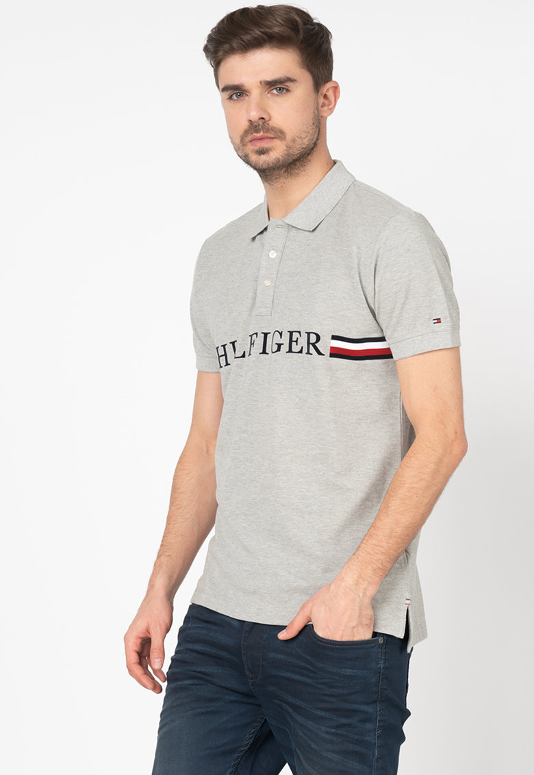 Tricou polo regular fit cu logo