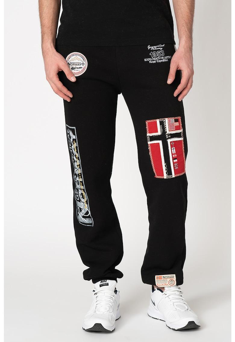 Pantaloni sport cu aplicatii logo Myer