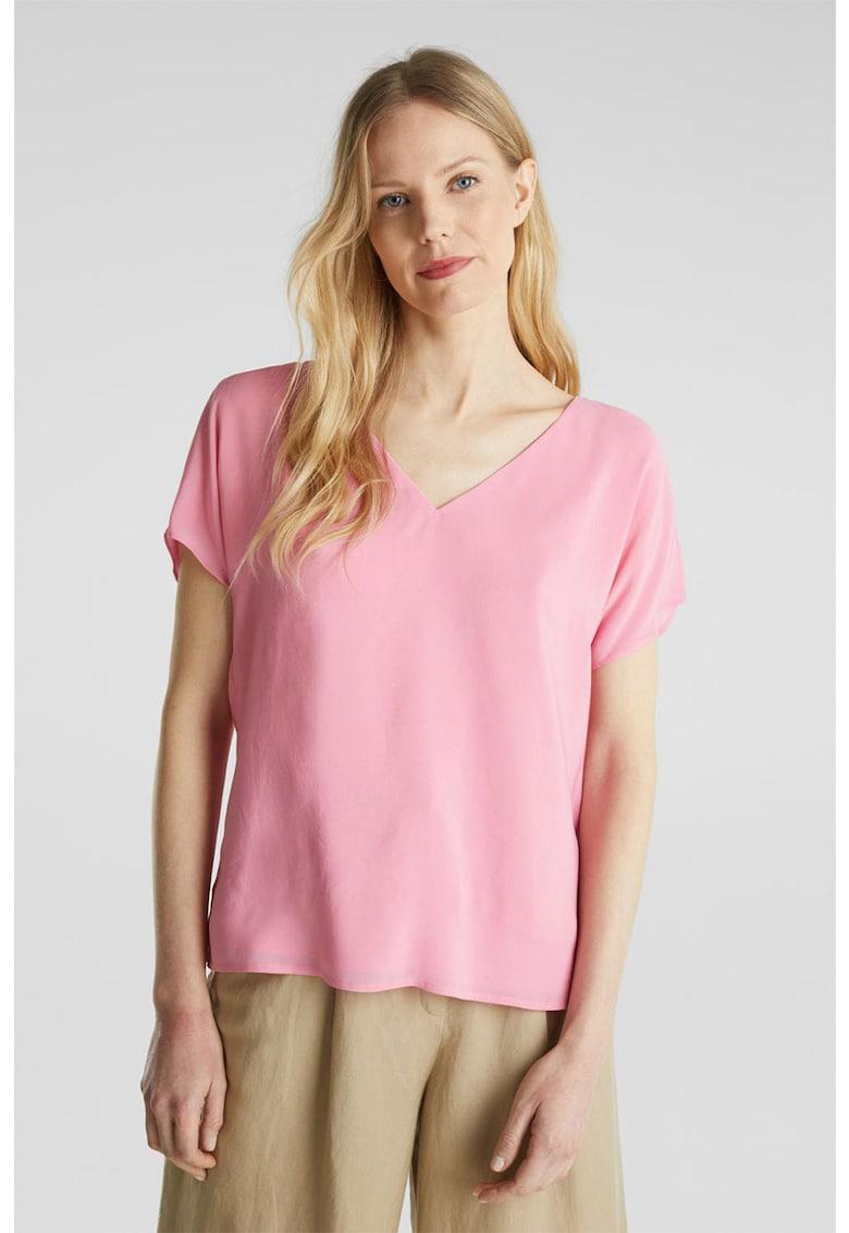 Bluza din amestec de modal cu decolteu in V