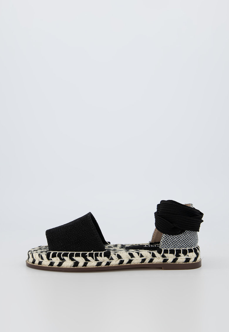Sandale de panza tip espadrile cu benzi laterale