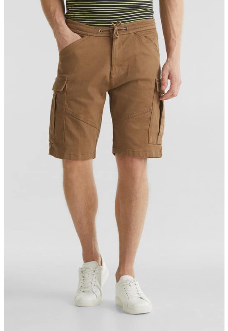 Pantaloni scurti cargo cu snur in talie