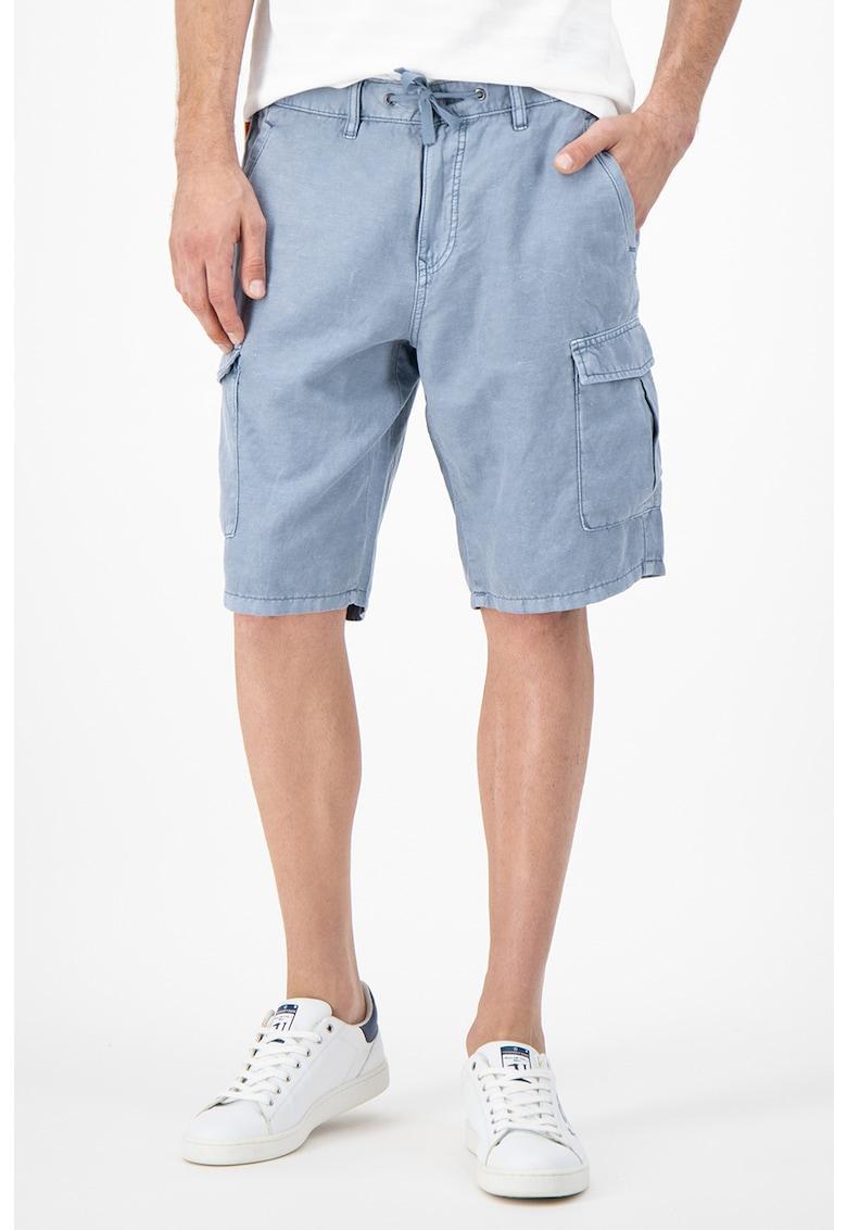 Pantaloni scurti cargo din amestec de in si bumbac organic