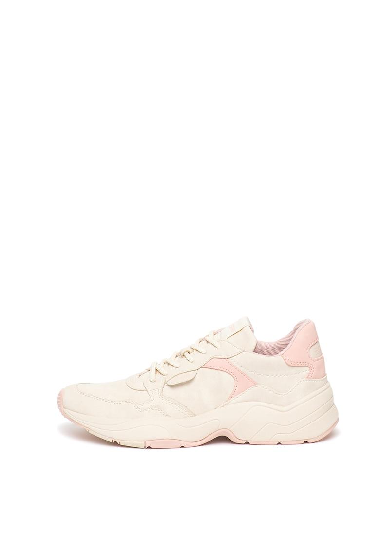 Pantofi sport wedge de piele ecologica imagine