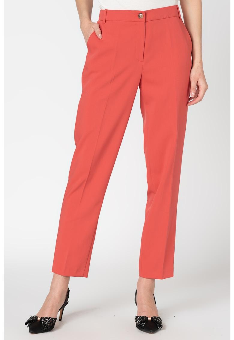 Pantaloni eleganti cu buzunare decorative pe partea din spate