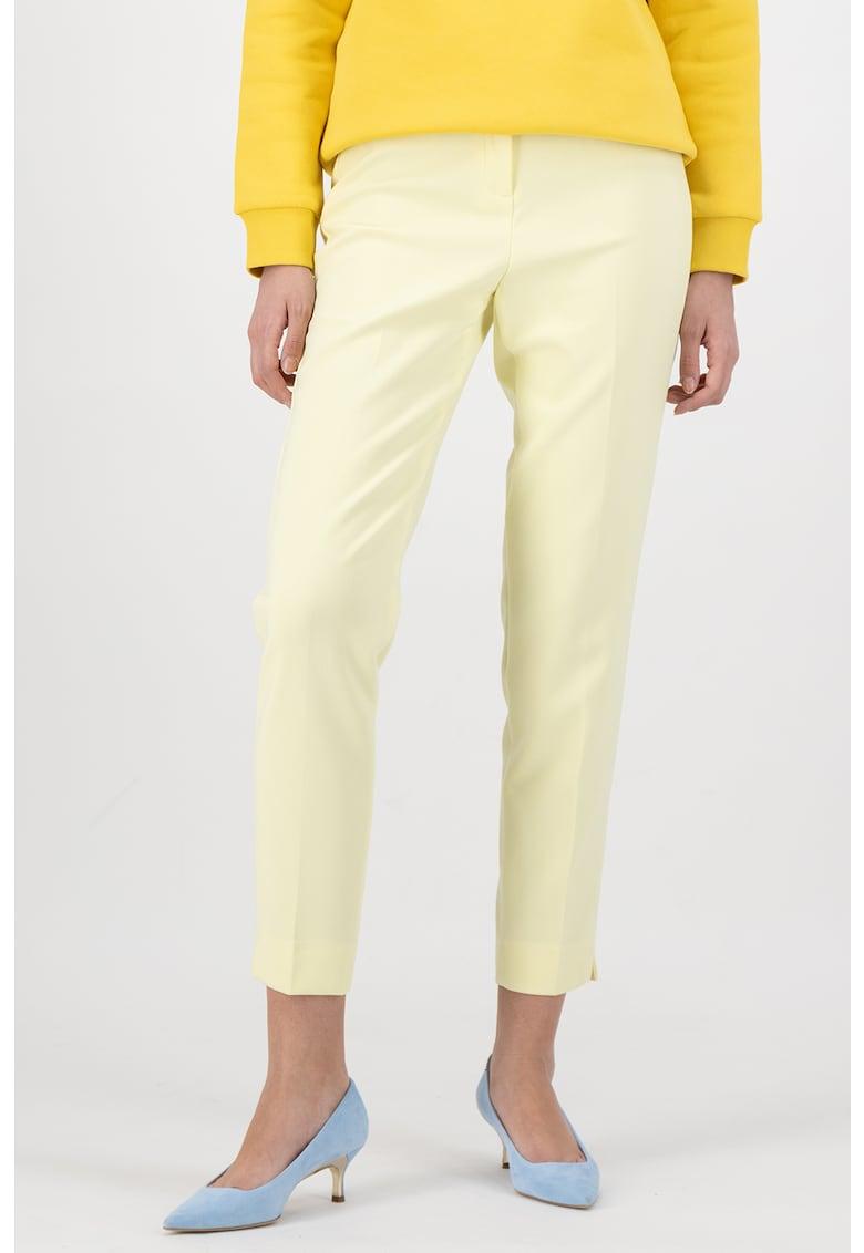 Pantaloni crop cu croiala conica