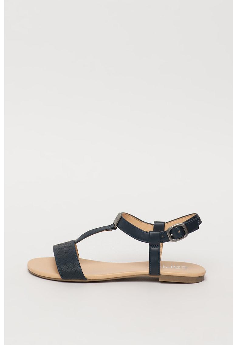 Sandale de piele ecologica cu aspect texturat