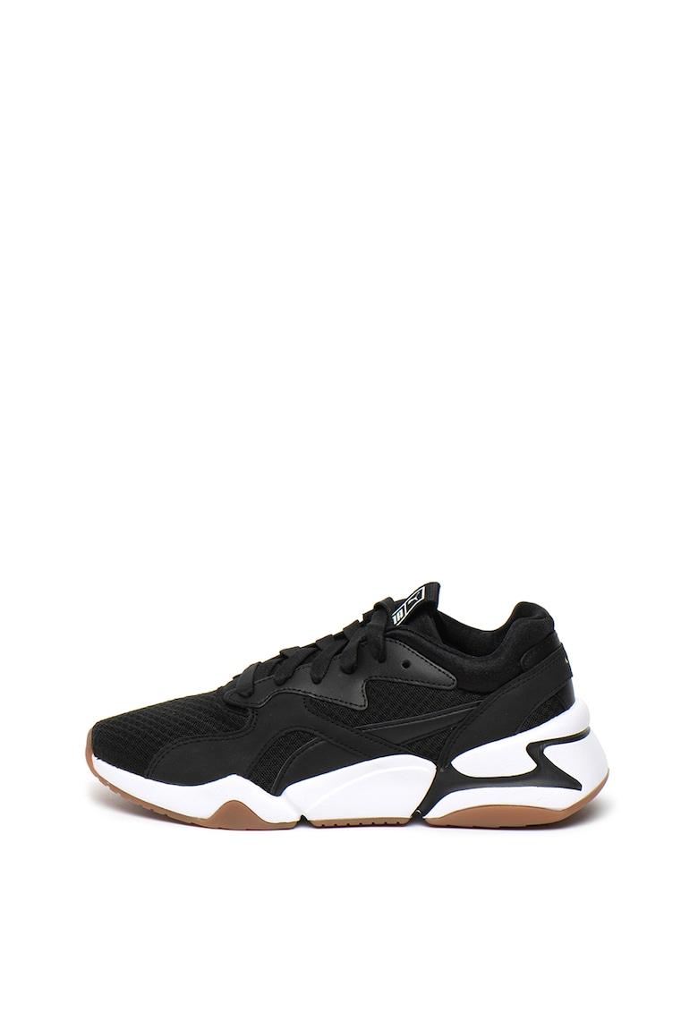 Pantofi sport cu garnituri de plasa Nova 90'S Bloc