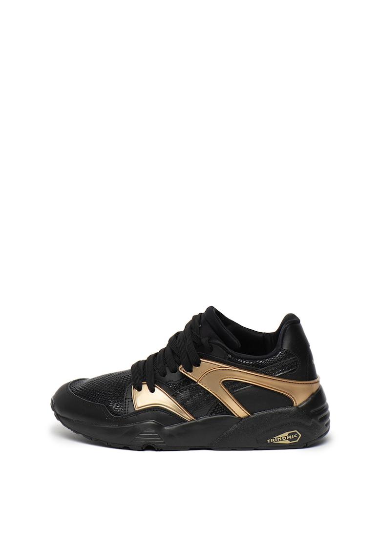 Pantofi sport de piele cu detalii contrastante Blaze Gold