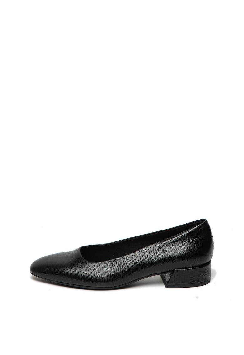 Pantofi din piele cu model de piele de reptila Joyce