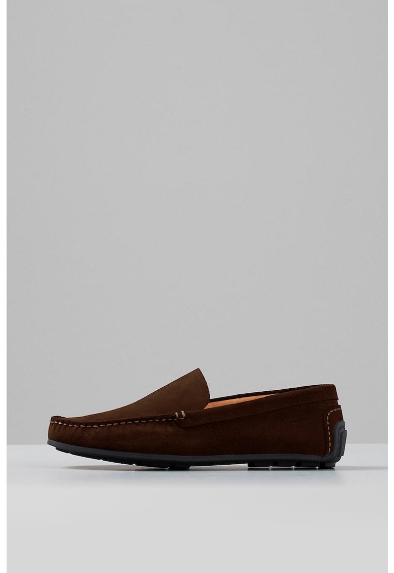 Pantofi loafer de piele intoarsa cu cusaturi in relief Wayne imagine