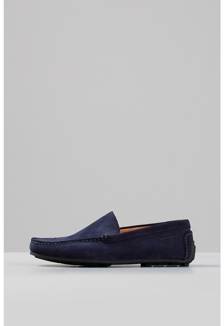 Pantofi loafer de piele intoarsa cu cusaturi in relief Wayne