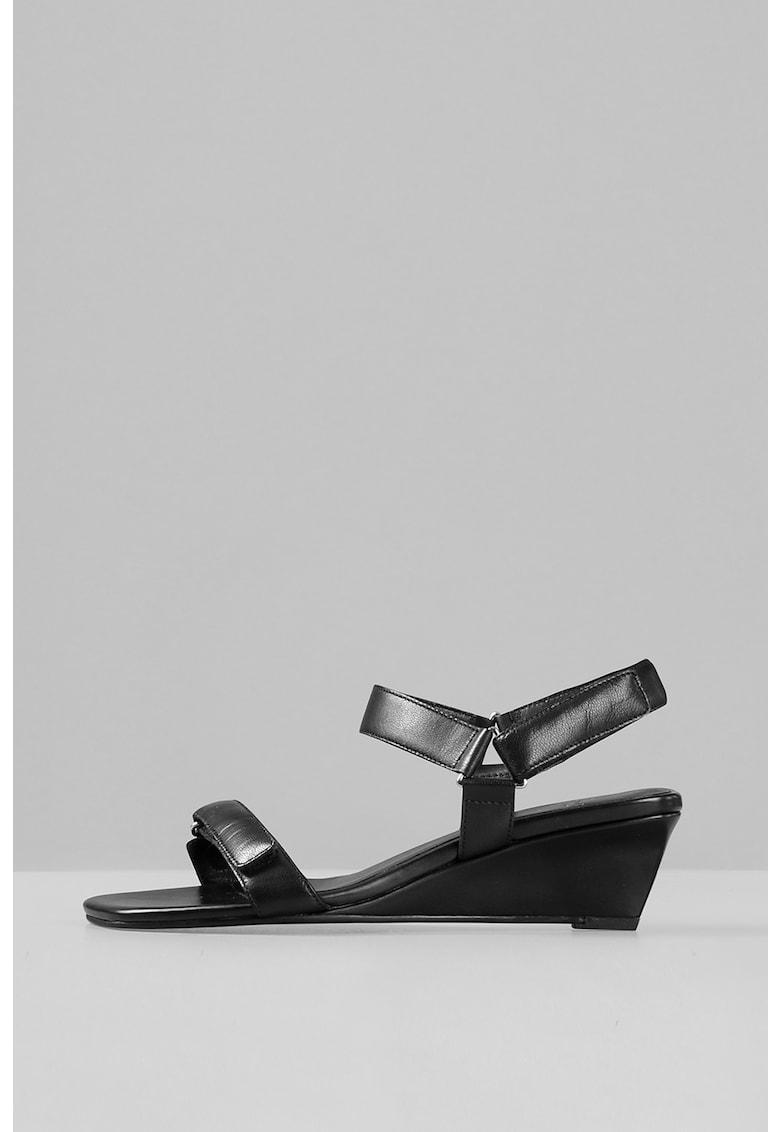 Sandale wedge de piele Nellie Vagabond Shoemakers fashiondays.ro