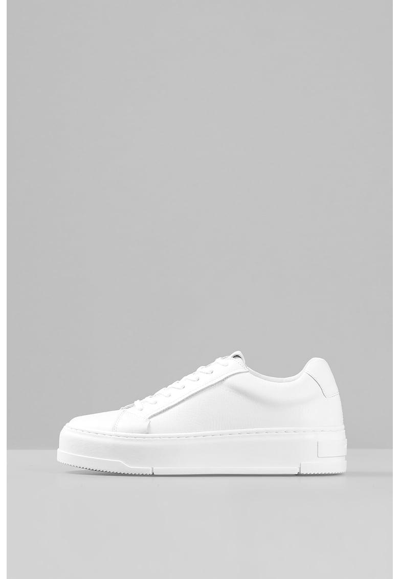 Pantofi sport flatform de piele imagine