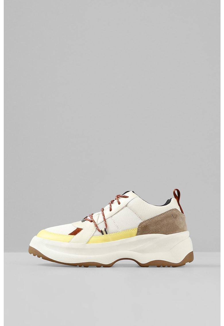 Pantofi sport de piele cu aspect colorblock Indicator 2.0 imagine