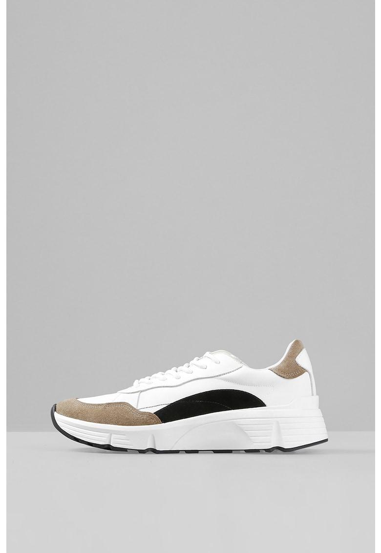Pantofi sport cu garnituri de piele intoarsa si piele Quincy