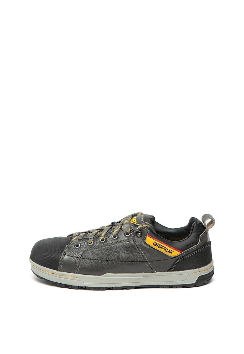 Pantofi din piele si piele ecologica - cu varf contrastant Brode
