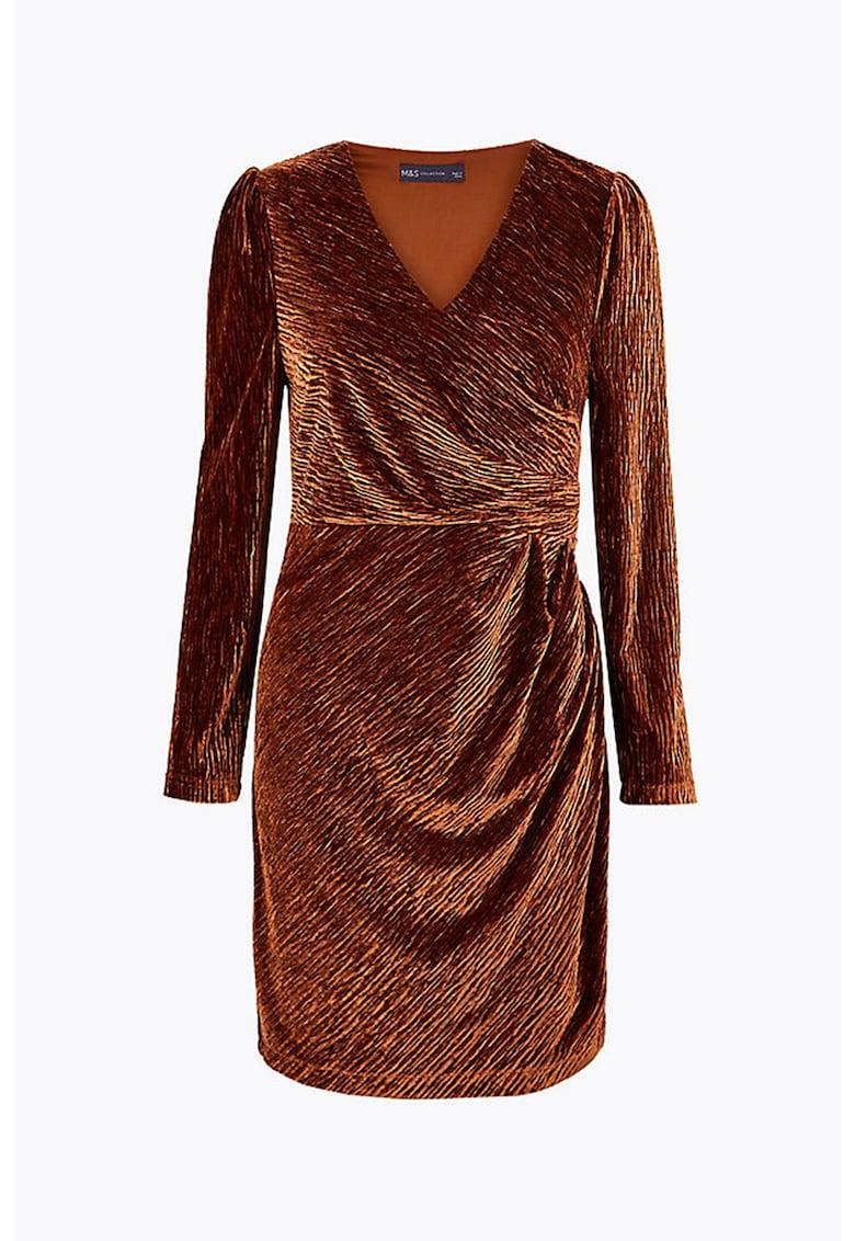 Rochie cambrata cu aspect texturat imagine fashiondays.ro