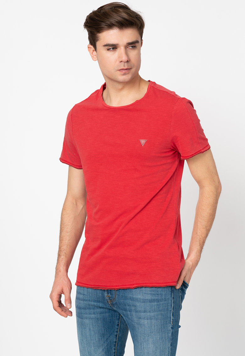 Tricou slim fit de bumbac