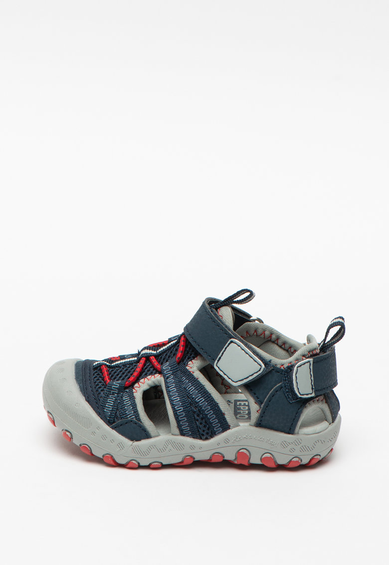 Sandale cu velcro si garnituri de plasa Tonala imagine fashiondays.ro