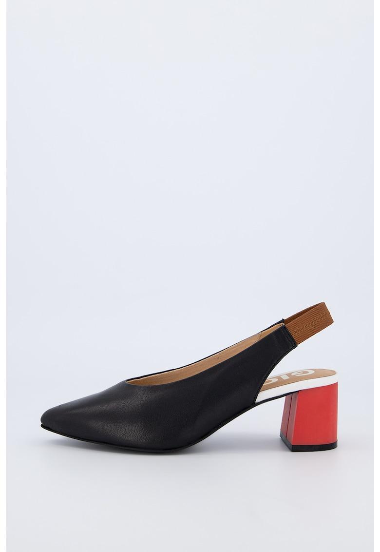 Pantofi din piele cu bareta slingback Amenia