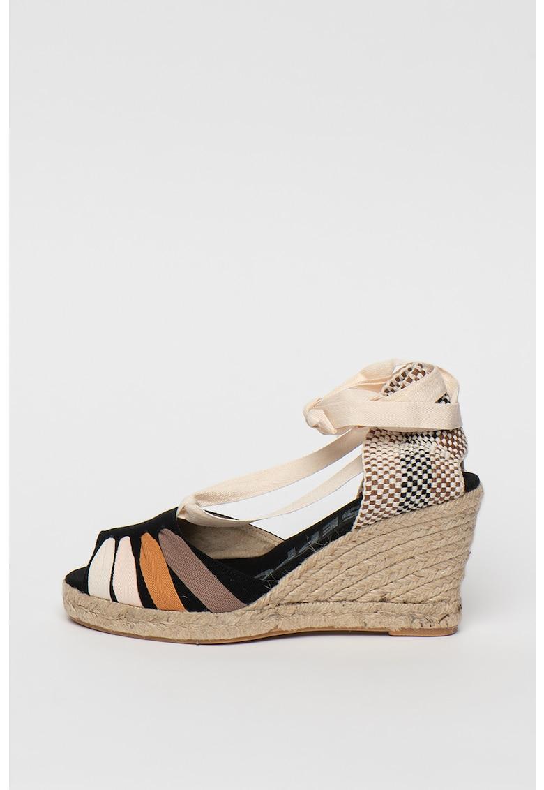 Sandale wedge tip espadrile Bakewel