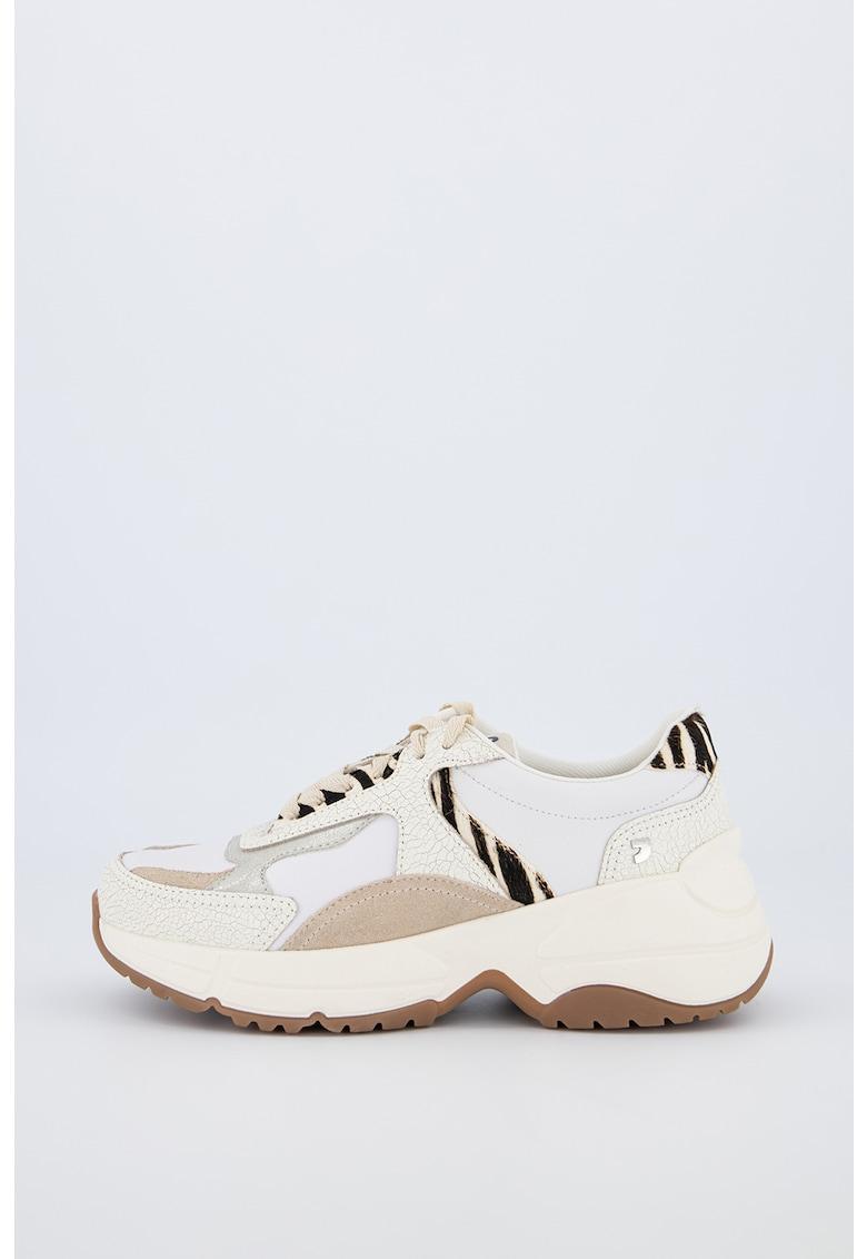 Pantofi sport din piele cu insertii din piele intoarsa Melle