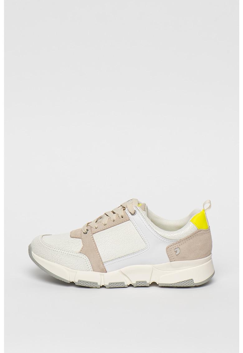 Pantofi sport cu garnituri de piele intoarsa si piele Broseley