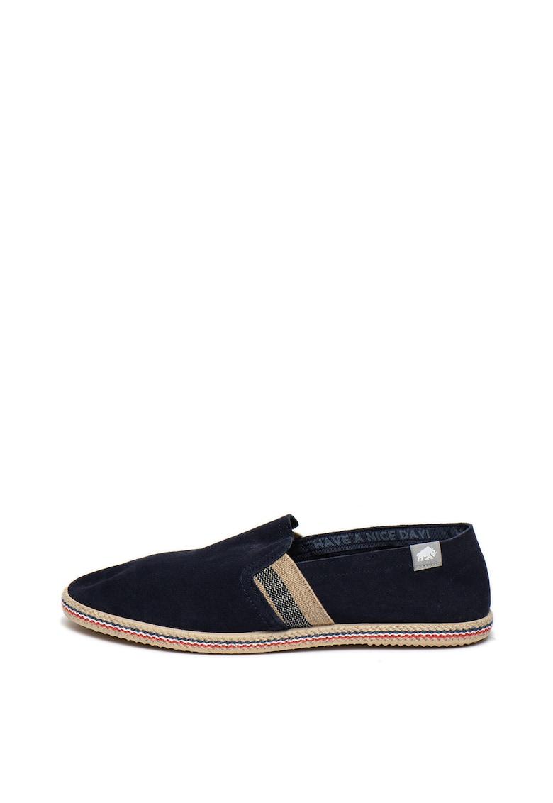 Pantofi slip-on tip espadrile de piele intoarsa Gulf imagine