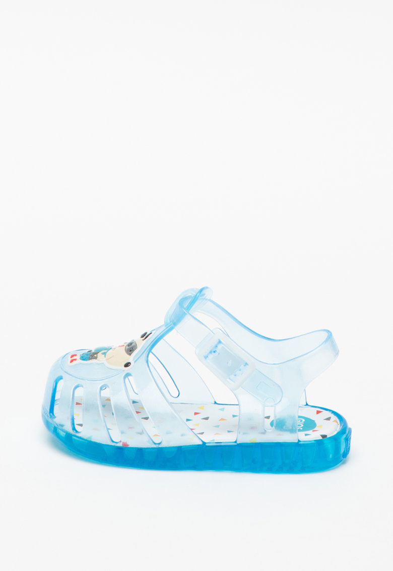 Sandale de cauciuc cu aspect semitransparent Esneux