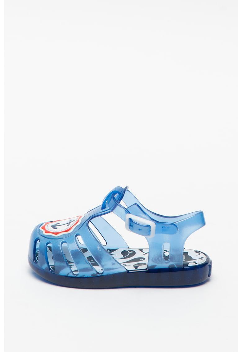 Sandale de cauciuc cu aspect semitransparent Davie