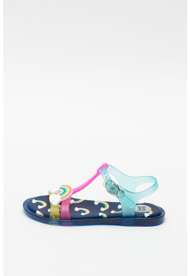 Sandale cauciucate cu aplicatie decorativa Engis imagine