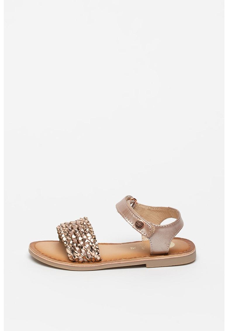 Sandale de piele si piele ecologica - cu aspect tesut Vietri Gioseppo fashiondays.ro