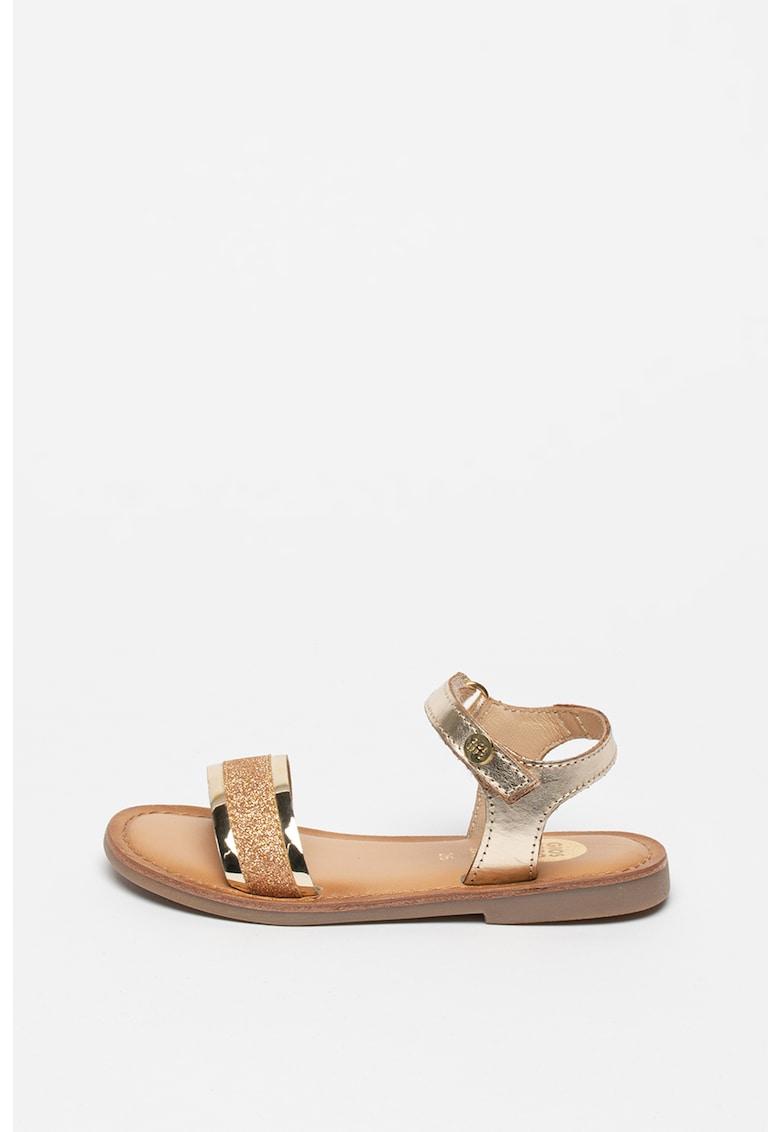 Sandale cu velcro si aspect metalizat Nadiad