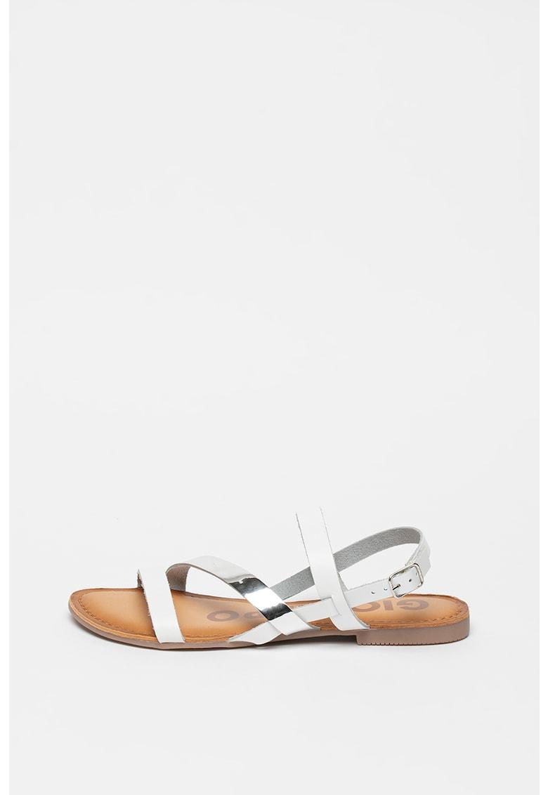 Sandale de piele si piele ecologica - cu garnituri metalizate Vance