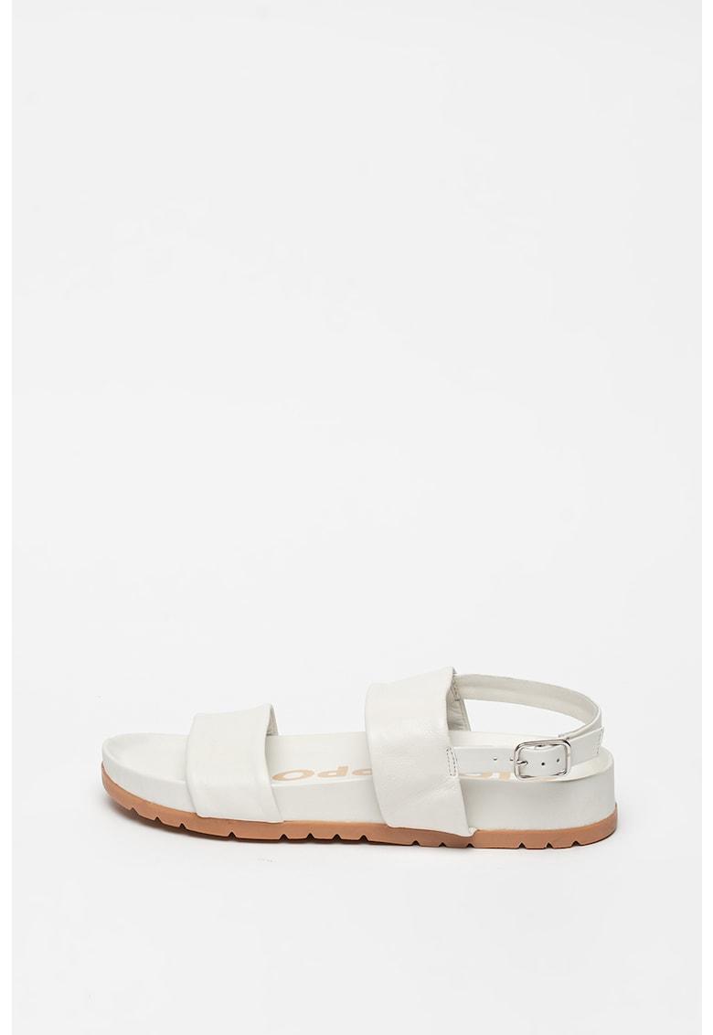 Sandale slingback de piele cu talpa wedge Siler