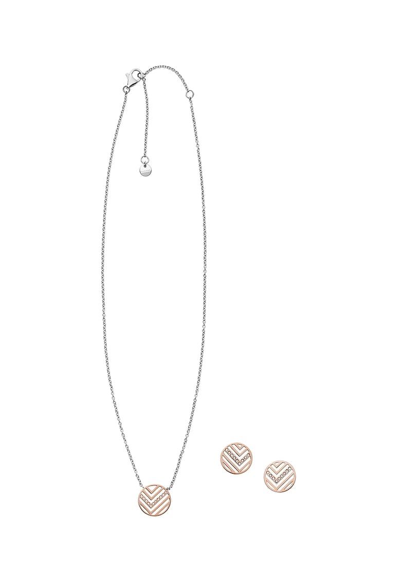 Set de bijuterii decorat cu cristale