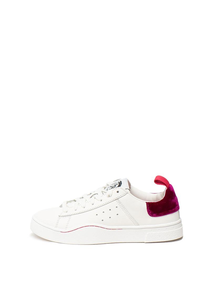 Pantofi sport de piele - cu garnitura catifelata pe partea din spate Clever