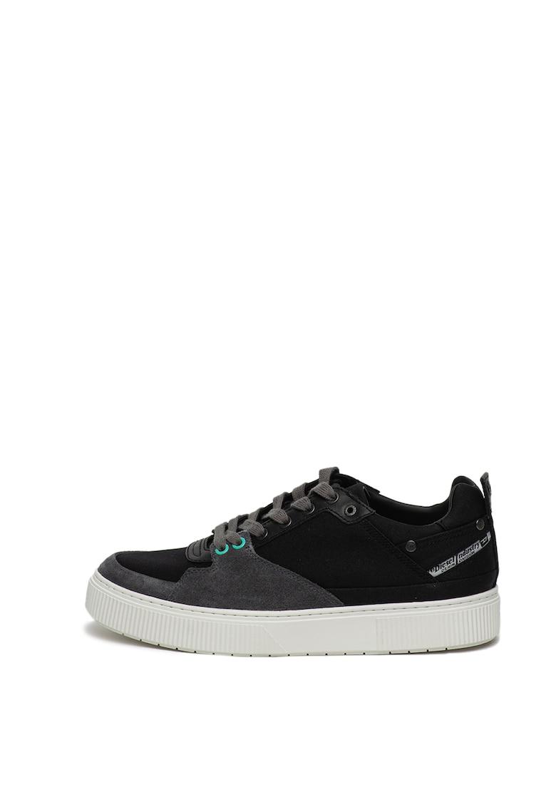 Pantofi sport cu insertii de piele intoarsa Danny
