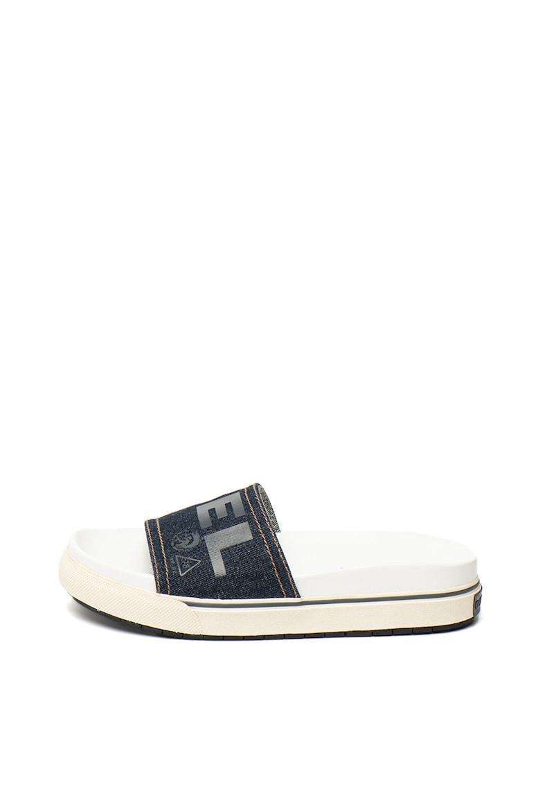 Papuci cu garnituri din denim Grand imagine fashiondays.ro 2021