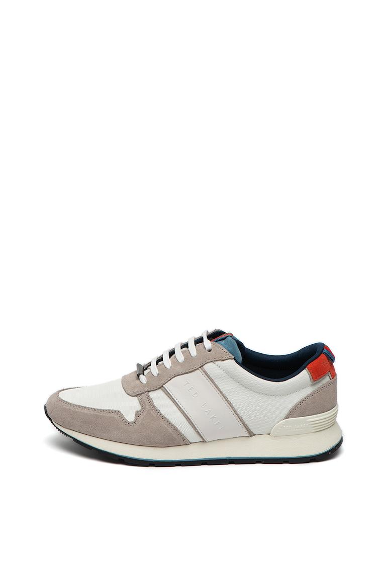 Pantofi sport de piele si material textil Lhenstr Ted-Baker imagine 2021