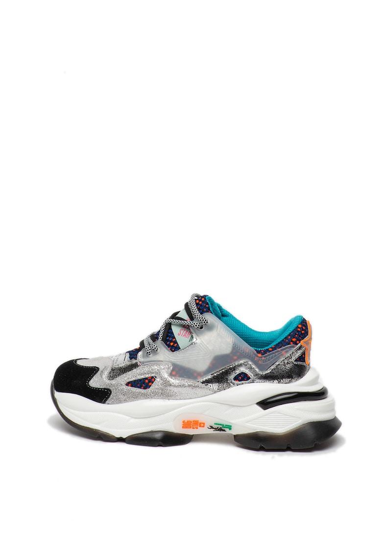 Pantofi sport de piele intoarsa si piele nabuc Block West 2