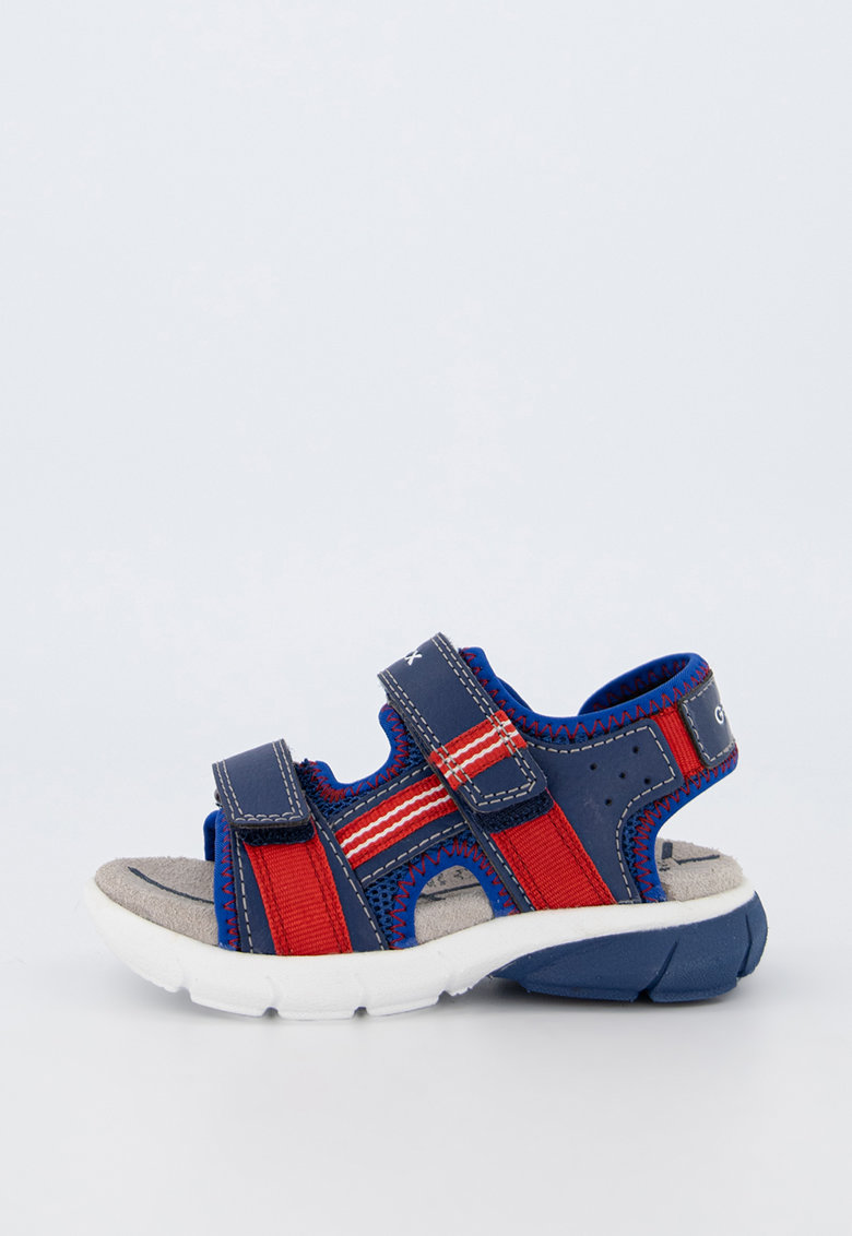 Sandale din piele ecologica si material textil - cu inchidere velcro Flexyper