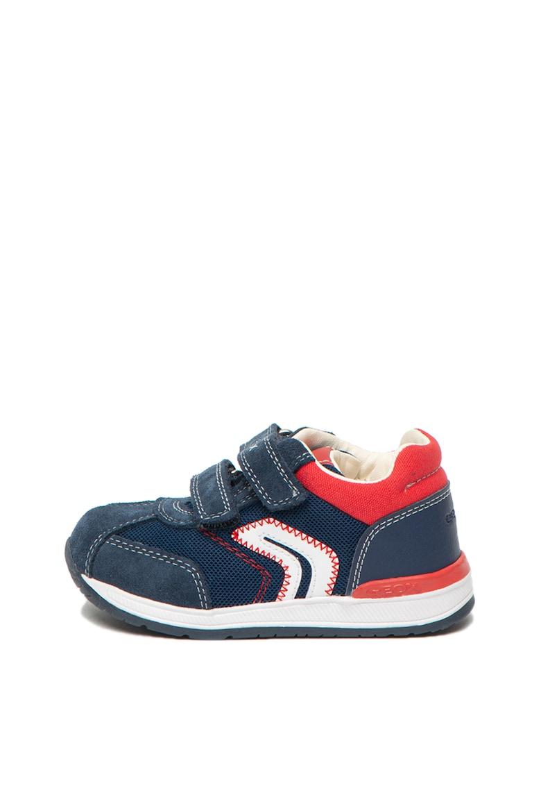 Pantofi sport din piele cu garnituri din material textil Rishon Geox imagine 2021