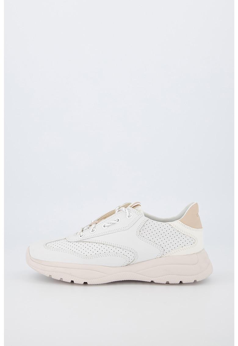 Pantofi sport de plasa cu insertii de piele nabuc Smeraldo