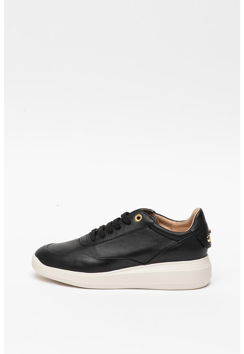Pantofi sport de piele cu aplicatii din tinte Rubidia