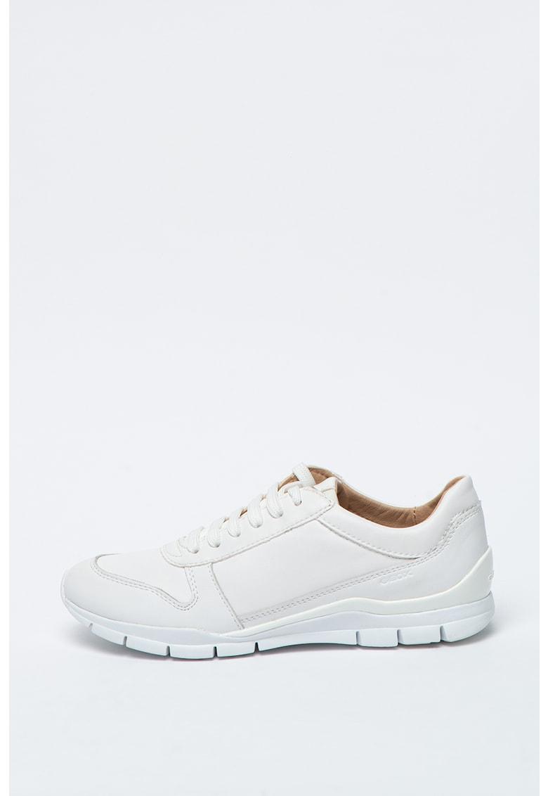 Pantofi sport din piele cu detaliu logo Sukie