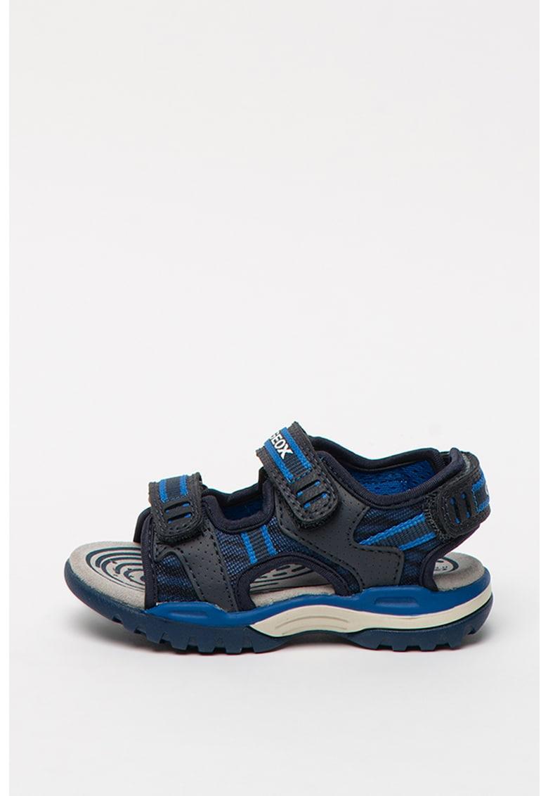 Sandale cu inchidere velcro si garnituri din piele ecologica Borealis