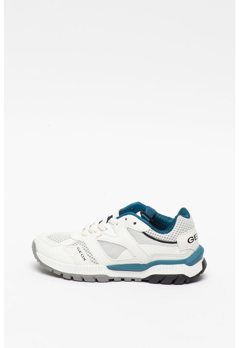 Pantofi sport de piele ecologica - cu insertii de plasa imagine