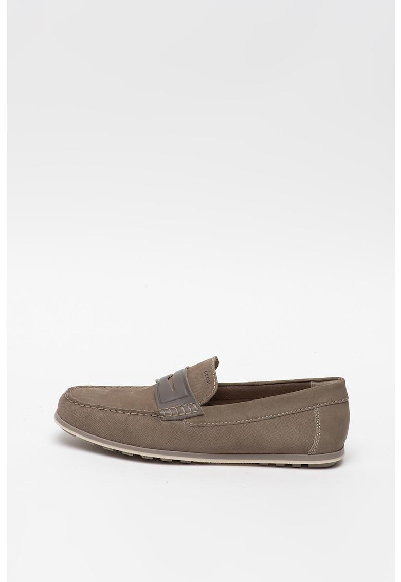 Pantofi penny loafer de piele intoarsa Mirvin imagine