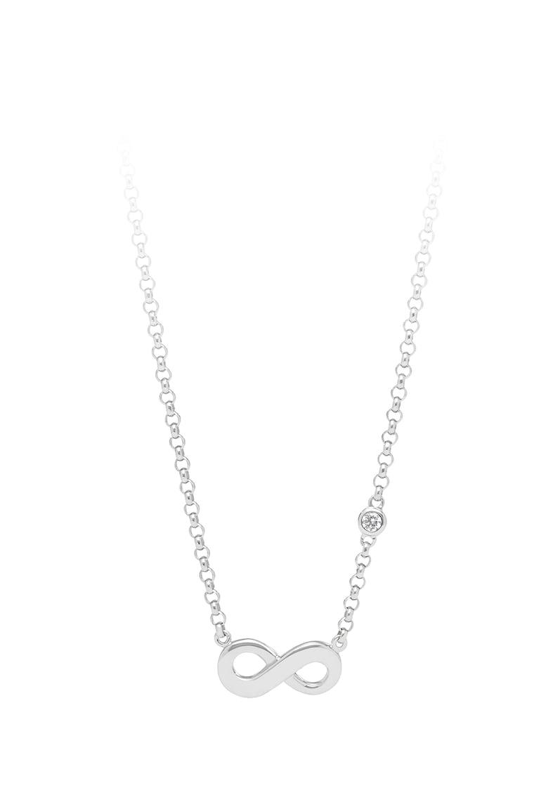 Colier din argint veritabil cu pandantiv cu simbol infinit
